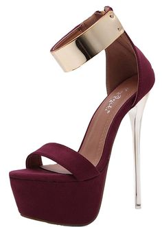 Aisun Women's Sexy Open Toe Platform Dress Zip Up Super High Stiletto Heels Sandals With Ankle Straps * You can get more details by clicking on the image. (This is an affiliate link) #sandals