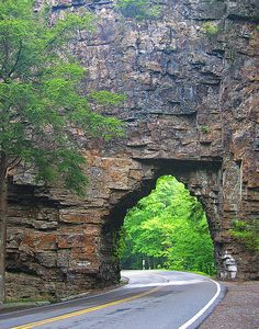 Backbone Rock Tunnel, over Tennessee Highway 133. Near Shady Valley, Tennessee.