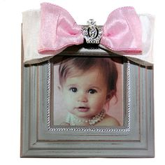 Show off your perfect little girl with this beautiful frame. After all, she truly is a princess.