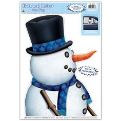 Snowman Backseat Driver Car Cling Party Supplies Canada - Open A Party