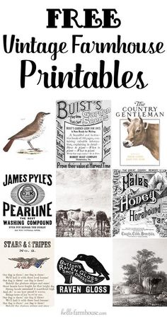 Who doesn't love free printables? Grab free farmhouse printables including farmhouse artwork, vintage ads, magazine covers, and even awesome old signs | Curated pins by @4vector