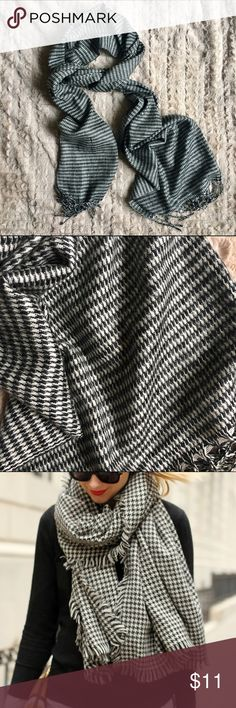 Houndstooth winter scarf Super cute and versatile!! Last picture is not actual scarf, just shown for style. Only worn a couple of times, like new. Pierre Cardin Accessories Scarves & Wraps