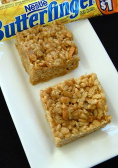 Butterfinger Rice Krispie Treats from 365 Days of Baking