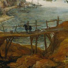 Rivierlandschap met everzwijnjacht, Joos de Momper (II), c. 1590 - c. 1635 - Landscapes - Works of art - Explore the collection - Rijksmuseum