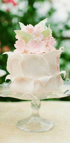 Spring petal wedding cake - all edible