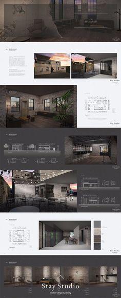 [Stay Studio] 인테리어 포트폴리오 Interior Portfolio / 비어 하우스… - All For Decorations Baroque Architecture, Landscape Architecture Portfolio, Interior Architecture, Portfolio Design Layouts, Layout Design, Portfolio Ideas, Architectural Portfolio Design, Design Portfolios, Design Ideas