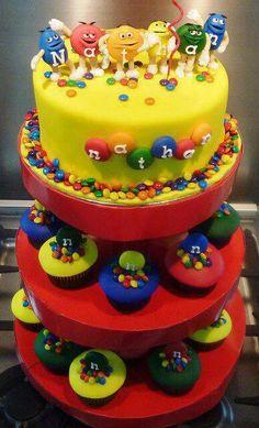 Awesome mnm cake