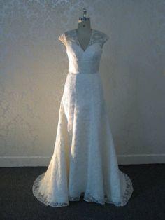 Vintage Inspired Wedding Dress with Cap by WeddingDressFantasy, $850.00