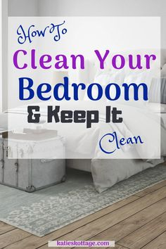 How to clean your bedroom and keep it clean. Let's chat about how to declutter your bedroom and then how to deep clean your bedroom. After that is all done it will be so much easier to keep your bedroom clean. A minimalist bedroom is the way to go!