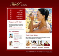 Model Portfolio Flash Templates by Solus
