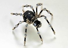 Beaded Crafts, Beaded Ornaments, Wire Crafts, Jewelry Crafts, Bead Jewellery, Wire Jewelry, Beaded Jewelry, Jewlery, Christmas Spider
