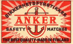 adventures-of-the-blackgang:  ANKER safety matches (agence eureka)