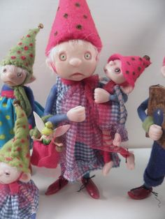 Gnome toting baby ... ooak poseable art doll  .. faires ... elves ... gnomes ... and the like by Dinkydarlings