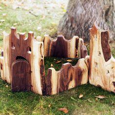 Natural Handcrafted Wooden Castle Blocks | Building Blocks for Children | Organic Kids Blocks