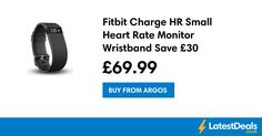 Fitbit Charge HR Small Heart Rate Monitor Wristband Save £30, £69.99 at Argos