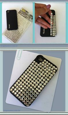 Customização de capinha de celular - Eu fiz isso, recebi vários elogios. As pedrinhas são bem baratinhas, encontradas em qualquer bazar. Vale a pena!!