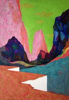 Sudalgie Ubac, 2013. Feutre et gouache sur carton. 70 × 50 cm