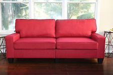 Red Fabric Sofa Love Seat. For more information, please visit the website.