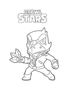 Brawl Stars Tapety/Wallpapers - Color for fun Star Coloring Pages, Free Coloring, Star Character, Character Drawing, Blow Stars, Crows Drawing, Star Painting, Easy Drawings For Kids, Bullet Journal Art