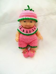 Berenguer Doll Clothes Crochet - 5 inch itty bitty Lots to Love Reborn Doll Clothes Crocheted Handmade. Ready to buy.