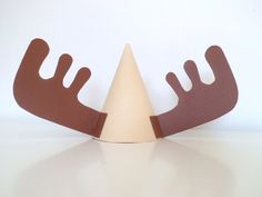 Moose Antlers Party Hat- we could make this its just cardstock and elastic thread