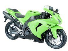 Skynet Aoshima Kawasaki ZX-10R Green 1/12 Scale Motorcycle Diecast from Japan #Skynet #Kawasaki