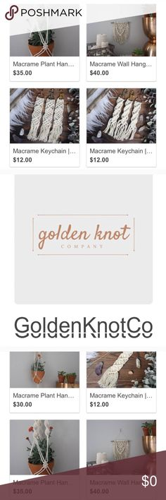 Check out my roomies etsy! check out my super talented roomies macrame Etsy page @goldenknotco  She's so talented and does this on the side as a college student! Accessories