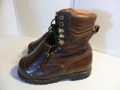 Men's Carolina Brown Leather Engineer Boots Steel Toe Meta Guard USA-8 D SAVE $! #Carolina #WorkSafety