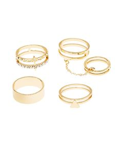 Plus Size Caged Stackable Rings - 4 Pack | Charlotte Russe