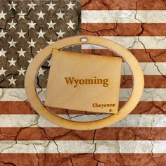 Beautifully Handcrafted Wyoming Christmas Ornament! Personalized Free!