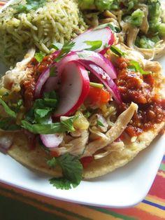 Mexican Chicken Salad Tostadas - Hispanic Kitchen
