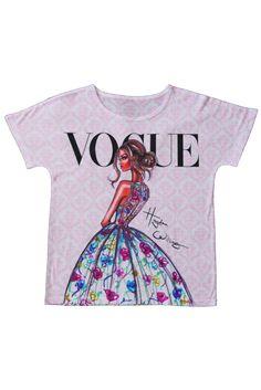 t-shirt Koszulka damska z nadrukiem z motywem magazynu Vogue www.dariza.pl Sklep Dariza Stworzona By inspirować