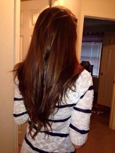 When my hair was long and healthy and v-cut. I miss it.