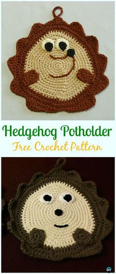 Crochet Hedgehog Potholder Free Pattern- #Crochet; # Potholder Hotpad Free Patterns