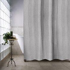 The Priya Shower Curtain Puts A Modern Twist On Classic Ogee