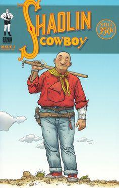 'Shaolin Cowboy' de Geof Darrow, mi nuevo ídolo.    Éste es uno de mis actuales cómics favoritos.
