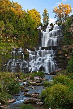 Chittenango Falls - Near Syracuse, New York; photo by Guy Schmickle