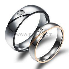 Engraved Titanium Wedding Rings for Men and Women