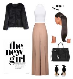The New girl by madynd on Polyvore featuring polyvore, fashion, style, WearAll, Chicwish, Cushnie Et Ochs, Boohoo, Yves Saint Laurent, Fallon and clothing
