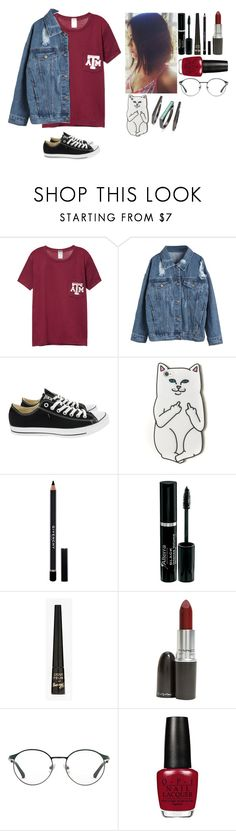 Sem título #62 by bluelvght on Polyvore featuring moda, WithChic, Converse, Kendra Scott, RIPNDIP, 3.1 Phillip Lim, Givenchy, MAC Cosmetics and Barry M