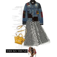 Autumn mix by clothesmonkey on Polyvore featuring Junya Watanabe, Oscar de la Renta, Dsquared2, 3.1 Phillip Lim, TrickyTrend and patchworkdenim