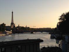 Running along the Seine
