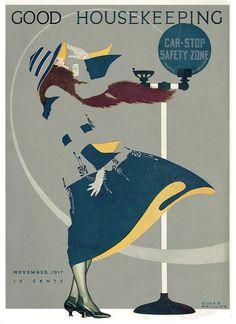 Coles Phillips : Cover art for Good Housekeeping, November 1917 Art Deco, Art Nouveau, Vintage Images, Vintage Posters, Vintage Art, Harlem Renaissance, Old Magazines, Vintage Magazines, Magazine Art