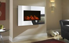 Osmington Mirror Glass Remote Control Log Effect Wall-Mounted LED Electric Fire in Home, Furniture & DIY, Fireplaces & Accessories, Fireplaces | eBay