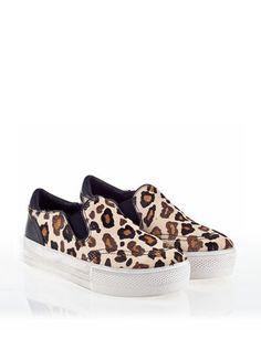 ASH Jungle Womens Sneaker Cream Leopard Hair Calf