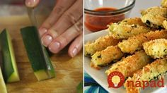 Mouthwatering Crunchy Tender Oven Baked Zucchini - So Crafty Me Bake Zucchini, Zucchini Fries, Garlic Sauce, Oven Baked, Good Food, Food And Drink, Stuffed Peppers, Healthy Recipes, Baking