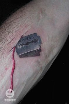 The Laziest Emo Tattoo of the Year [Pic] | I Am Bored