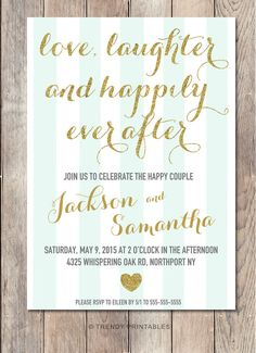 Engagement Party Invitation Printable by TrendyPrintables on Etsy