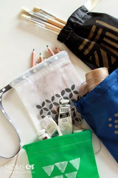 DIY: drawstring bags