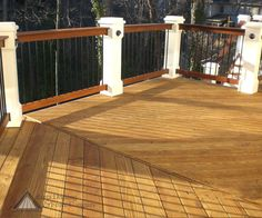 Pressure-treated lumber decks offer a unique versatility - they're economical and last long. Check out some of our pressure-treated lumber deck projects. Decking Fence, Deck Railings, Deck Pictures, Fencing Companies, Rental Property, Sweet Home, Decks, Atlanta, Outdoor Decor